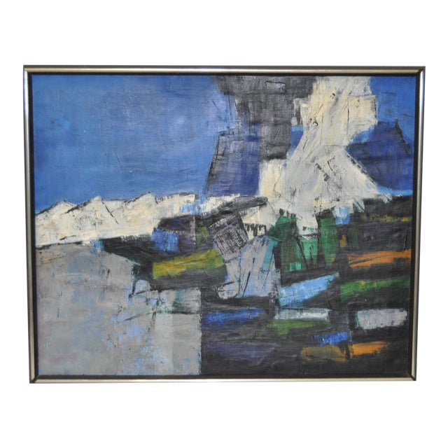 Mid-Century Modern Abstract Painting c.1960 - Image 1 of 6