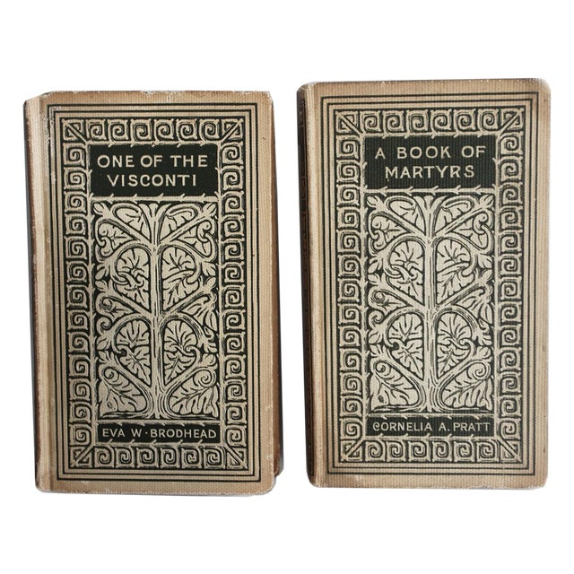 Vintage Decorative Books - Pair - Image 1 of 3