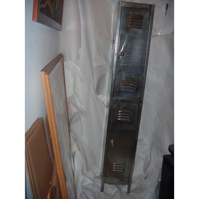 Old English Polished Metal Locker - Image 3 of 11