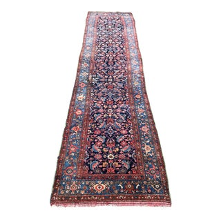 "Antique Persian Bidjar Runner - 3'5"" X 12'8"""