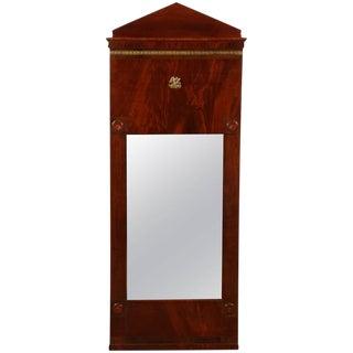 Danish Empire Mahogany Mirror