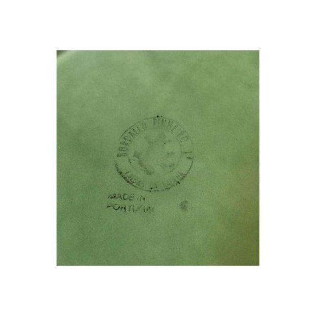 Image of Vintage Green Cabbage Leaf Serving Plate