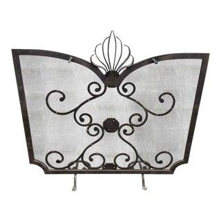 Ornate Metal Fireplace Screen
