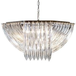 "Venini Style Customizable Murano Glass ""Curve"" Chandelier"