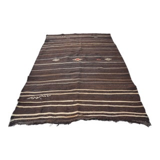 Turkish Vintage Kilim Rug - 5′6″ × 8′3″