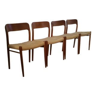 Vintage Niels Moller for J.L. Moller Danish Teak Chairs - Set of 4