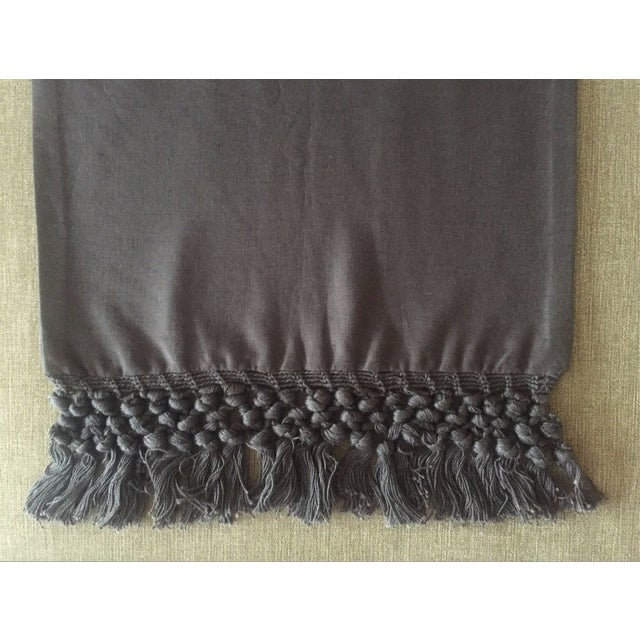 West Elm Slate Grey Tassel Pillow Covers - A Pair - Image 4 of 11