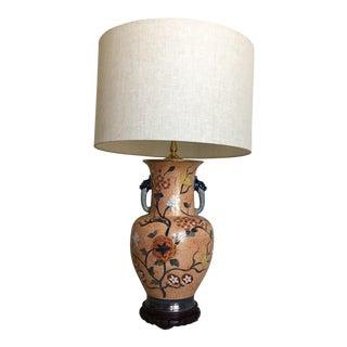 Chinese Dragons Vase Lamp w/Shade