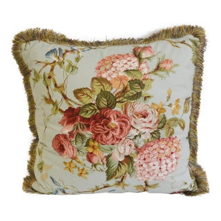 Cowtan and Tout Floral Brush Fringe Pillow