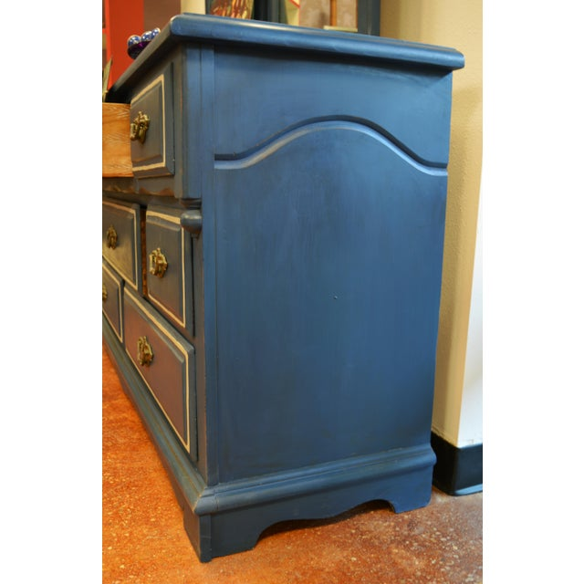 Mirrored 8-Drawer Navy Blue Dresser - Image 11 of 11