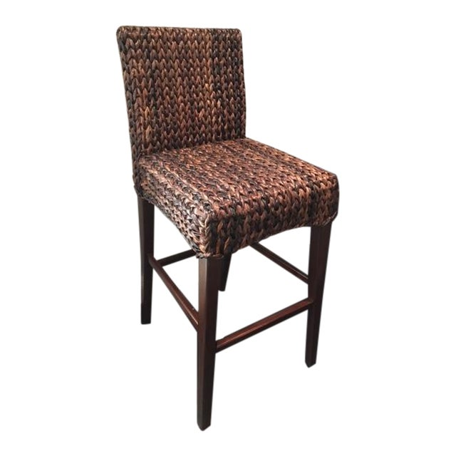 Image of Wicker Bar Stools - Set of 4