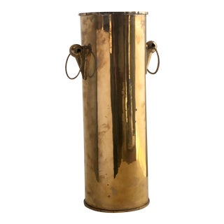Hollywood Regency Brass Umbrella Stand