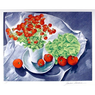 """Lawrence, """"Plant, Lettuce, Tomatoes,"""" Lithograph"""