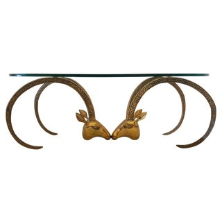 Patinated Brass Ibex Coffee Table After Chervet