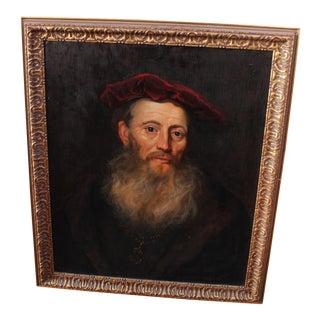 """Vintage """"Portrait of a Gentleman"""" After Flinet"""