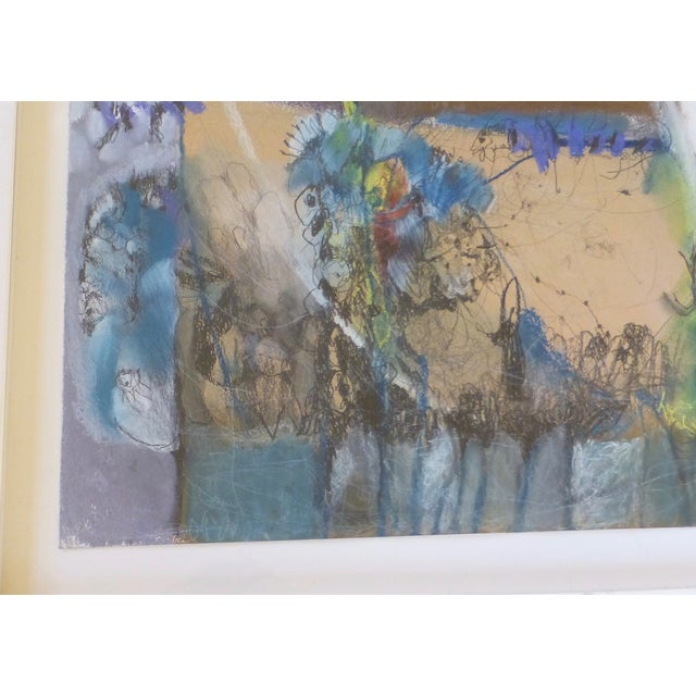Large Abstract Mid-Century Painting - Image 4 of 11
