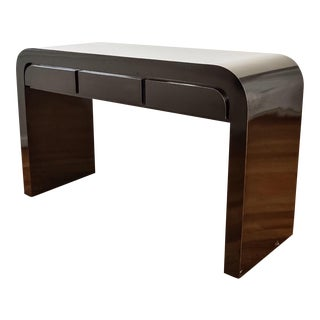 Mid-Century Karl Springer Style Lacquered Console Table