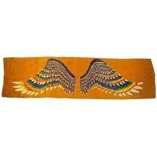 Golden Wing Long Silk Scarf