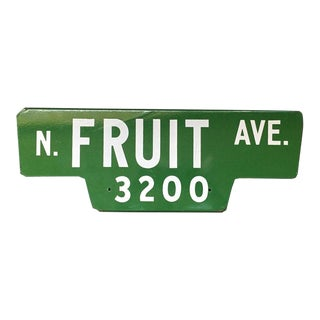 Vintage Street Sign, N Fruit Ave