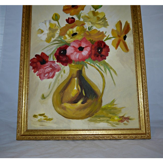 Original Floral Still Life Painting on Canvas - Image 4 of 7