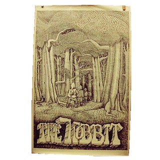 Vintage the Hobbit Poster 1970 Early Issue Original Non-Reproduction