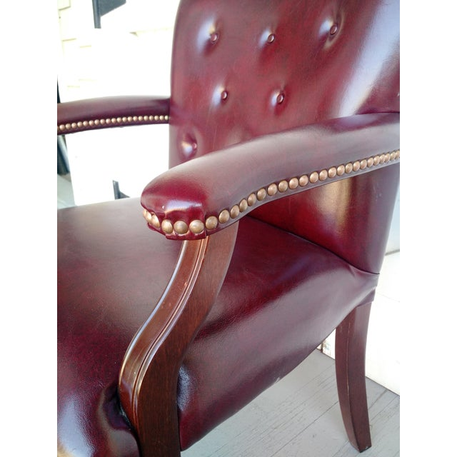 Image of Oxblood Executive Guest Chair