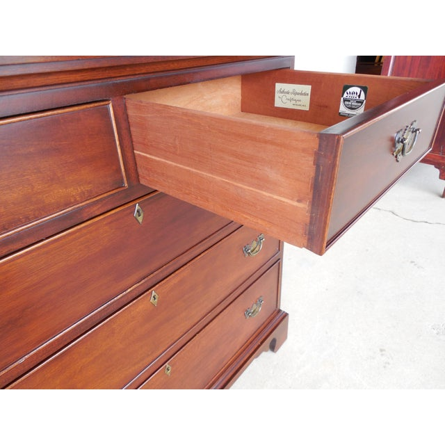Image of Craftique Chippendale Style Mahogany Dresser