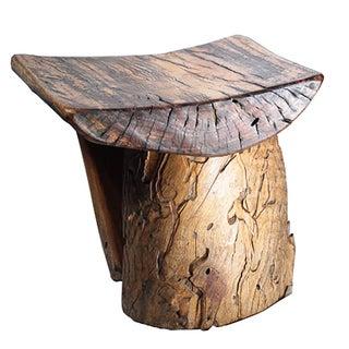 Rustic Tree Stump Stool