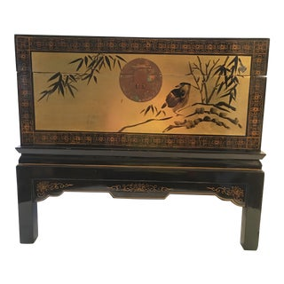 Chinoiserie Chest Side Table W/ Birds
