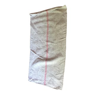 Red striped French Grain Sack