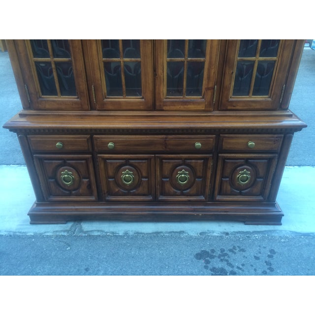 Burlington House Solid Wood Buffet with Hutch - Image 8 of 8