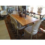 Image of Classic French Painted & Caned Dining Chairs - S/4