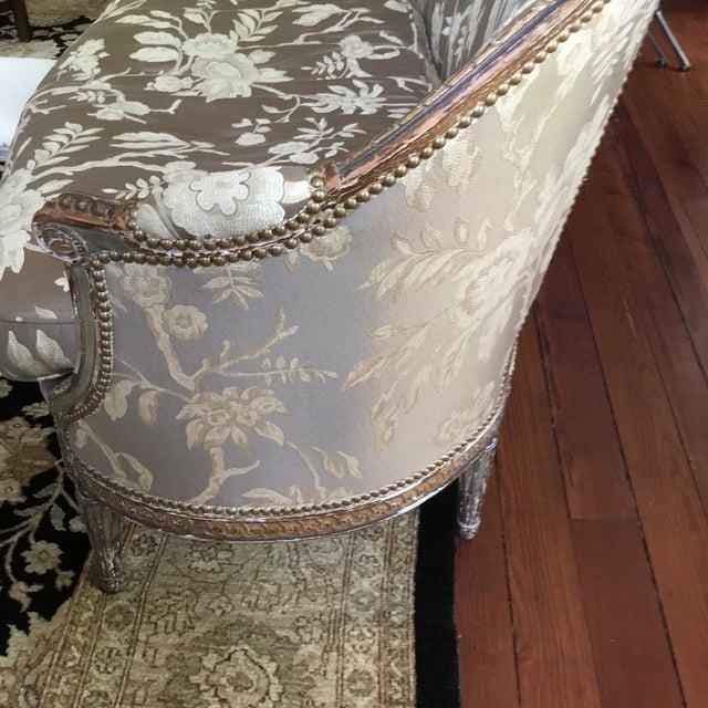Image of Louis XVI Brown & White Settee