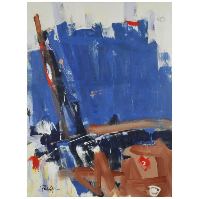 Image of Robbie Kemper Blues And Browns Painting