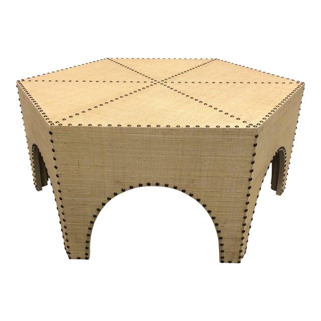 New Palecek Casablanca Raffia Coffee Table - Image 1 of 8