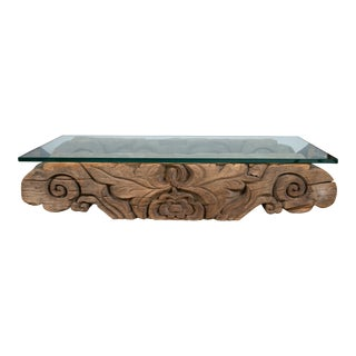 Tibetan Hand-Carved Architectural Element Table