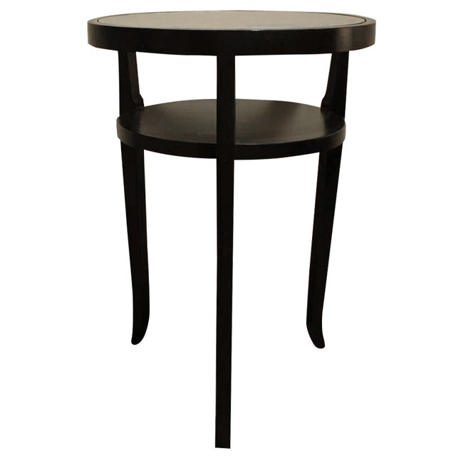 Ebony Wood & Glass Accent Table - Image 1 of 5