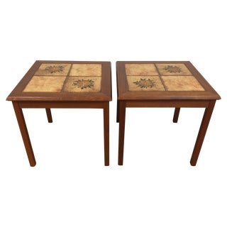 Danish Teak End Tables - Pair
