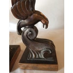 Image of Art Deco Bronze Eagle Bookends