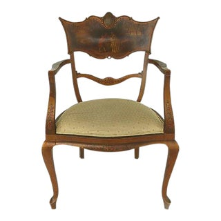 Antique Verne Martins Style Ladies Armchair