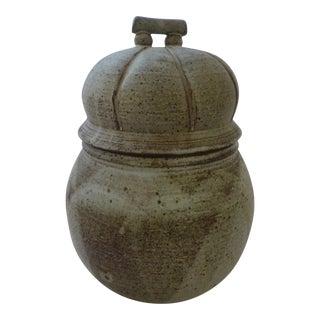 Organic Mid-Century Modern Lidded Jar