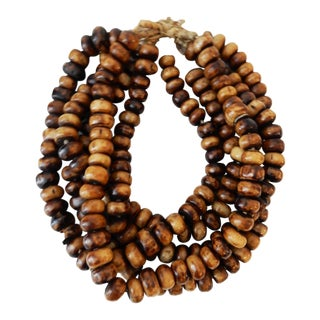 Jumbo Currency Bone Trade Beads - Set of 5