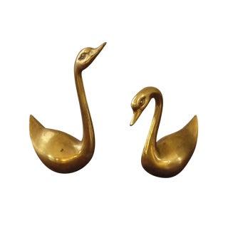 Brass Swans - A Pair