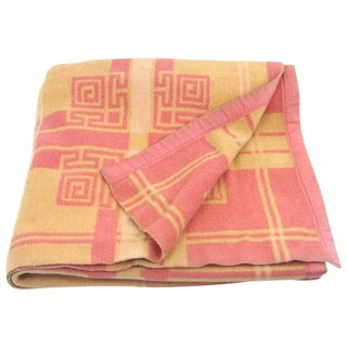 Vintage Pink & Orange Reversible Camp Blanket
