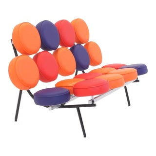 Limited Edition Multicolor George Nelson, Herman Miller Marshmallow Sofa