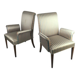 Tommi Parzinger Silk Armchairs