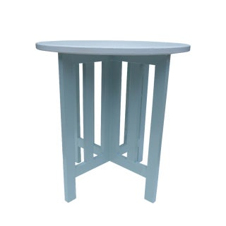 Coastal Living Round Oak Lamp Table