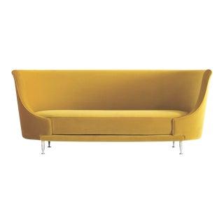 1987 New-Tone Yellow Oval Moroso Sofa