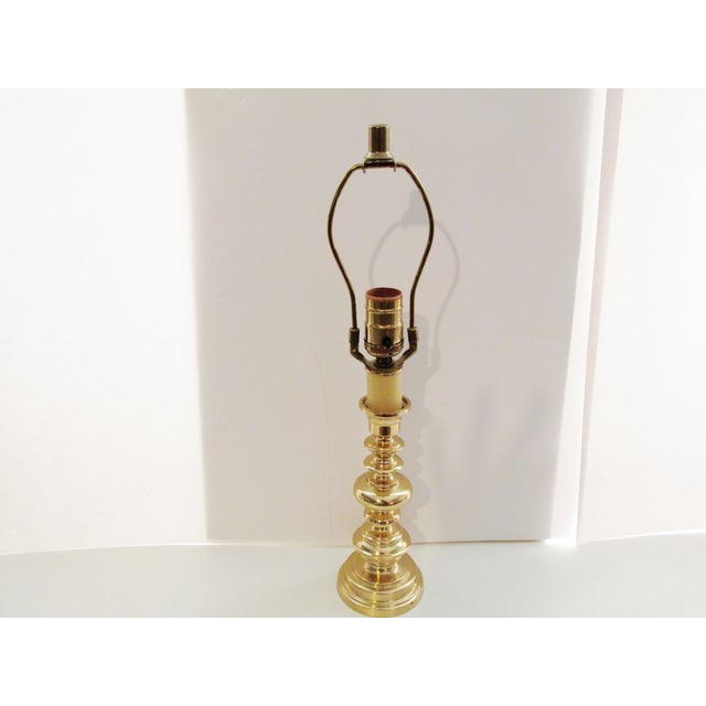 Image of Vintage Berman Brass Candlestick Lamp
