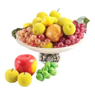 Decorative Fruit Bowl With Faux Fruit
